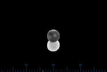 micro-rubber ball